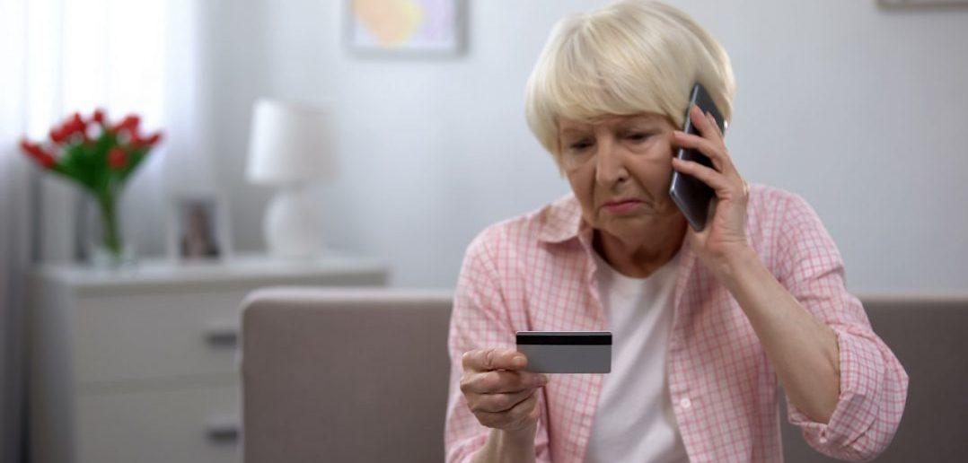 Elderly Women, Mobile Phone Credit Card